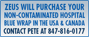 Zeus will Purchase Your Blue Hospital Wrap... Call Pete at 847-816-0177